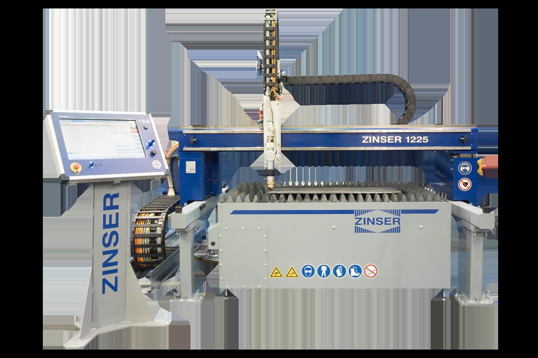 ZINSER 1225, machine à portique compacte pour la découpe plasma et l'oxycoupage