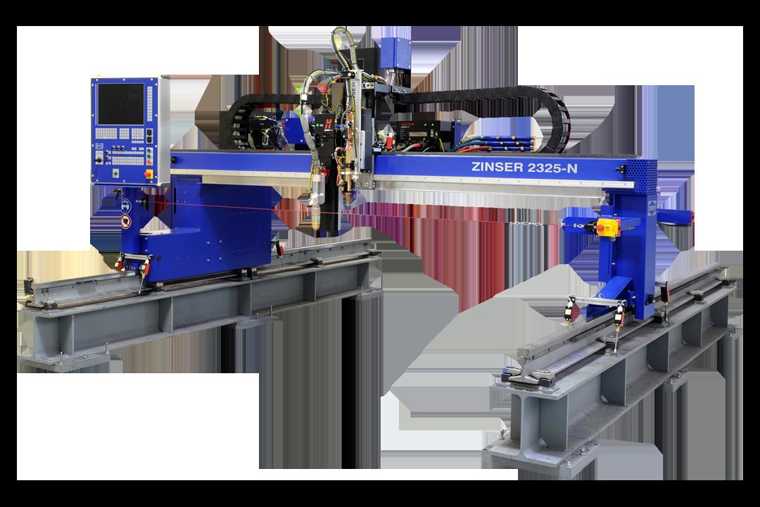 ZINSER Schneidemaschine 2325, Plasmaschneiden und Autogenschneiden