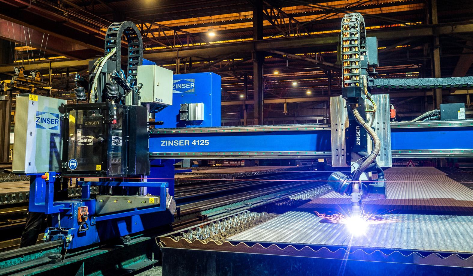ZINSER cutting machine 4125 for plasma cutting, bevel cutting and drilling
