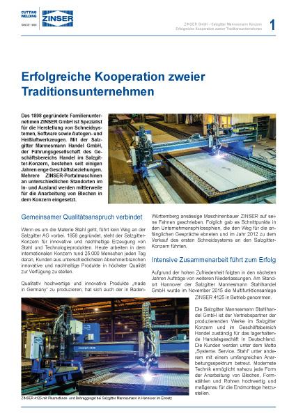 Success Story: Erfolgreiche Kooperation zweier Traditionsunternehmen, deutsch