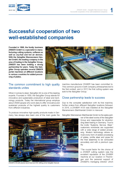 Success Story: Successful cooperation of two well-established companies, English