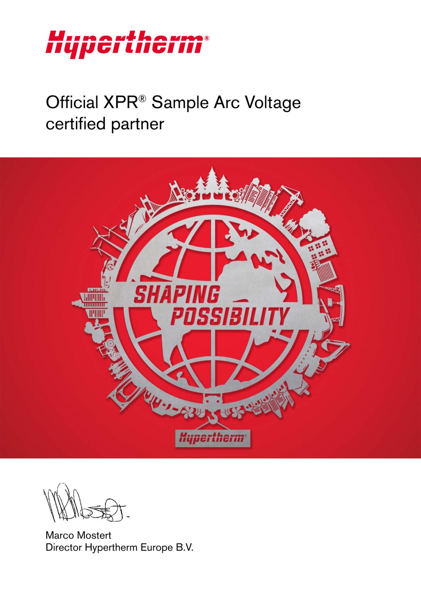 Hypertherm sample arc voltage