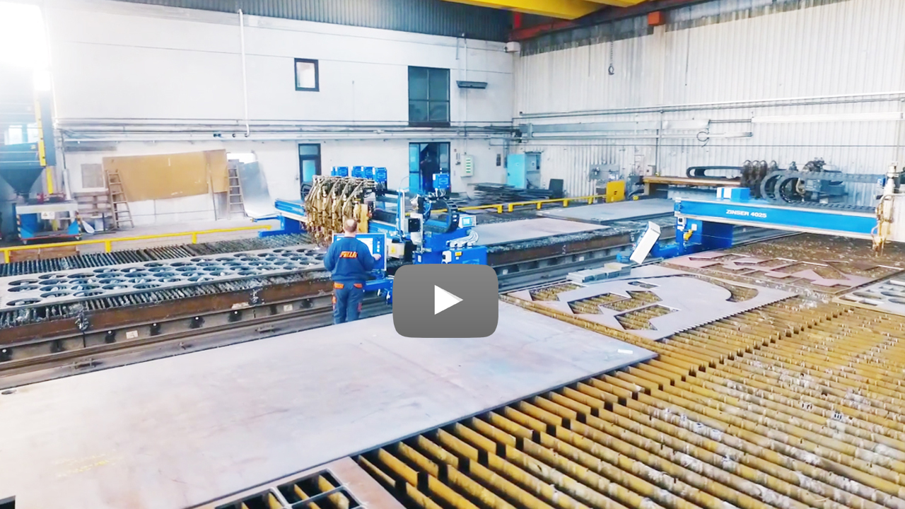 Cutstomer video Filli Stahlbau: ZINSER oxy-fuel cutting machine.