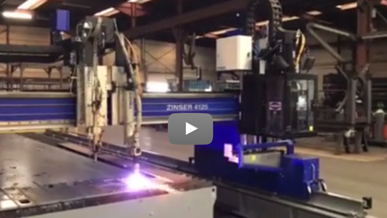 Cutstomer video Mylle H: ZINSER plasma cutting machine with drilling unit.