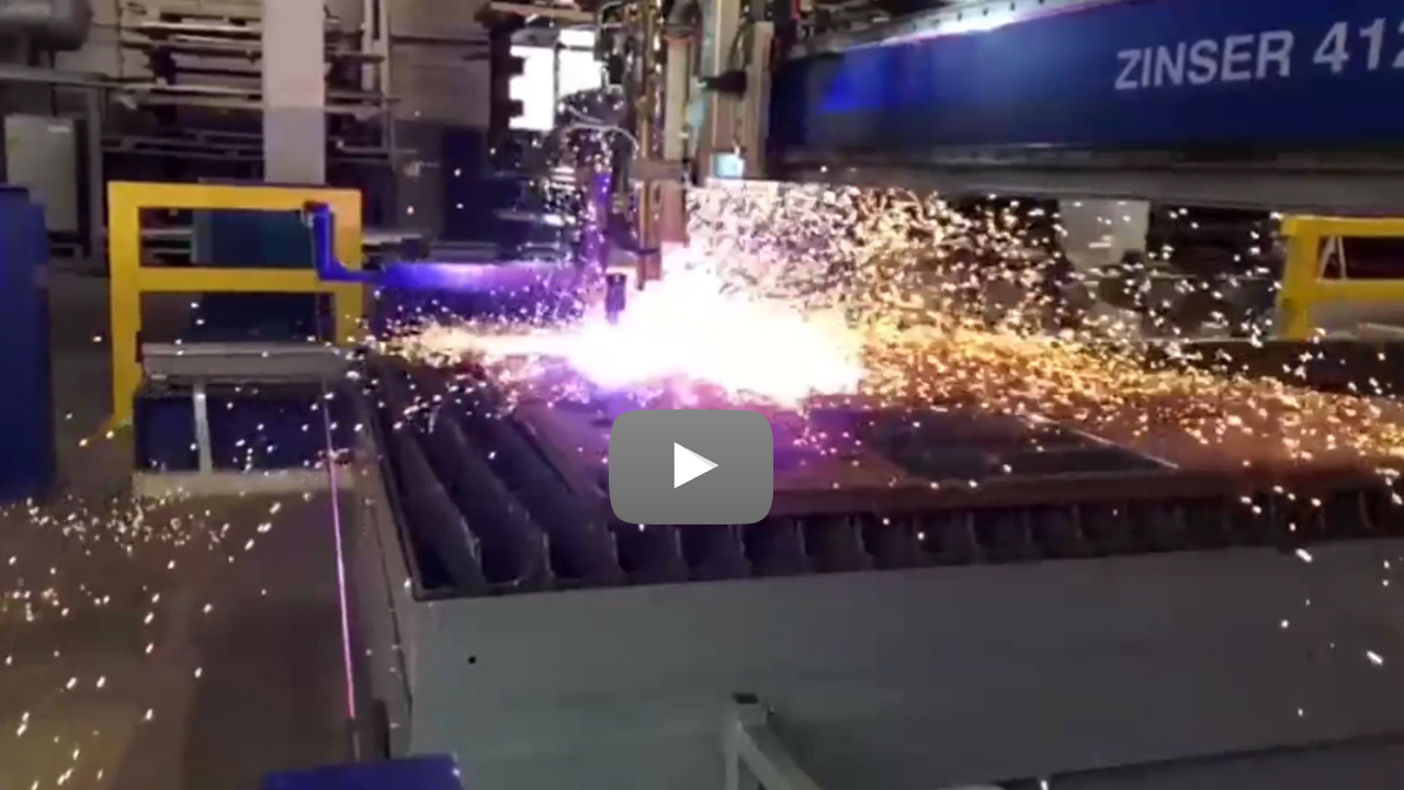 Cutstomer video Seitz Stahlbau: ZINSER plasma cutting machine.