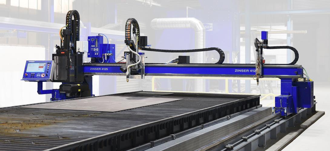 ZINSER 4125 machine de découpe plasma et oxycoupage