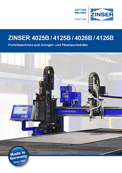 ZINSER premium cutting machines brochure