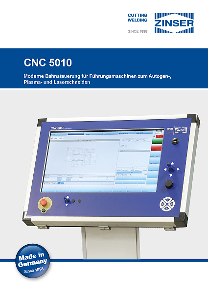[:de] Prospekt ZINSER CNC 5010 deutsch [:en] Brochure ZINSER CNC 5010 German